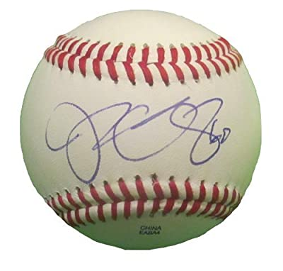 Jesse Chavez Autographed / Signed ROLB Baseball, Toronto Blue Jays, Oakland Athletics, Proof Photo