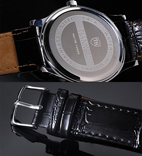 Ultrathin Leather Romantic Pair His and Hers Wrist Watches Sets for Couples White Set of 2 by DREAMING Q&P (Image #2)