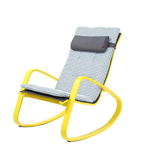 ZXL Rocking Chair Outdoor Balcony Office Household Casual Portable Fashion Recliner Chairs (Color : Style1)