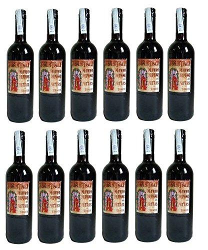 12x Mavrodaphne Rotwein lieblich Tsantali je 750ml/15% + 2 Probier Sachets Olivenöl aus Kreta a 10 ml - griechischer roter Wein Rotwein Griechenland Wein Set