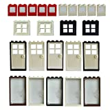 Windows Doors Set Bricks Block For LEGO Classic Pieces House Parts Building Toy