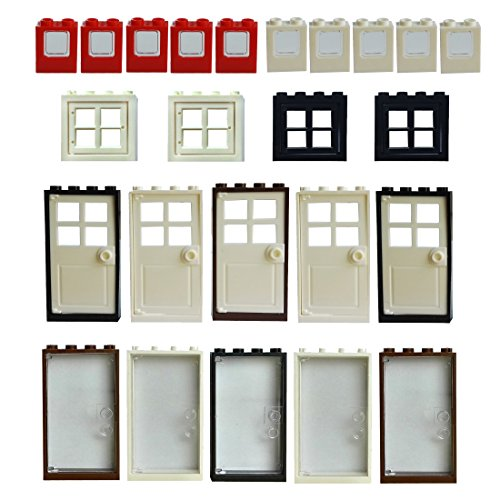 (Windows Doors Set Bricks Block Compatible Major Brands Classic Pieces House Parts Building Toy)