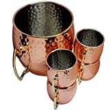 Moscow Mule Hammered Copper Drinking Cup - Set of 5
