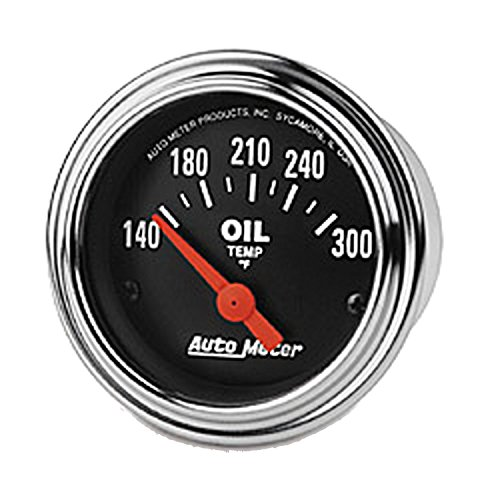 (Auto Meter 2543 Traditional Chrome Electric Oil Temperature Gauge )