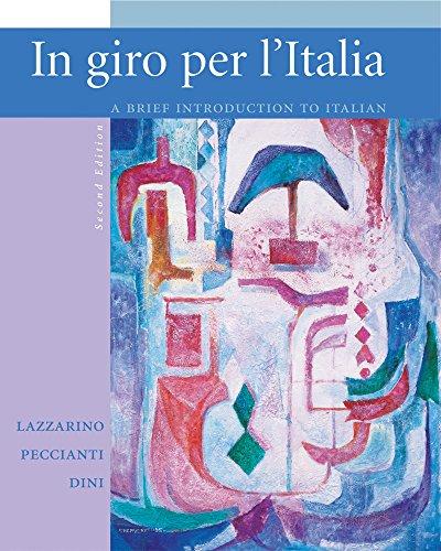 Workbook/Laboratory Manual to accompany In giro per l'Italia