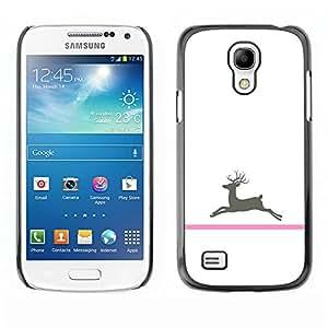 TopCaseStore / la caja del caucho duro de la cubierta de protección de la piel - Cancer Deer Minimalist White - Samsung Galaxy S4 Mini i9190 MINI VERSION!