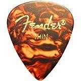 Fender Classic púas de celuloide púas para guitarra–12x Carey–Lata de 3de cada tamaño en un práctico Pick–3x Fino, 3x medio, 3x Heavy, 3x Extra Heavy 351estilo por Dirty Riffs