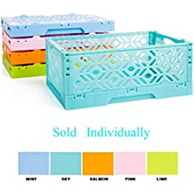 Stackable Storage box Container Stacking basket Bins - Decorative Organize Basket for living room, kitchen, bathroom Sundries Organize Holder Storage Case Box(SKY)