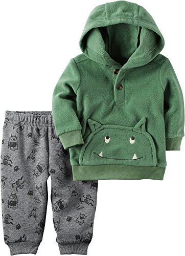 Carter's Baby Boys' 2 Piece Monster Hoodie And Fleece Jogger Set 12 Months