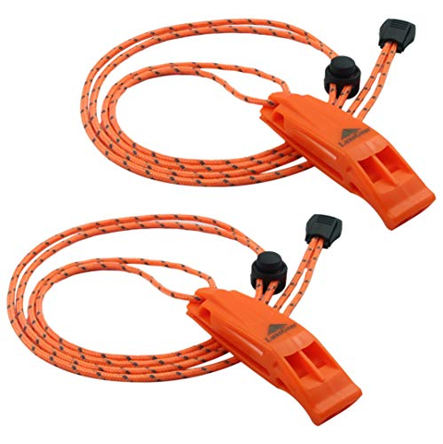 LuxoGear Emergency Whistles with Lanyard Safety Whistle Survival Shrill Loud Blast for Kayak Life Vest Jacket Boating…