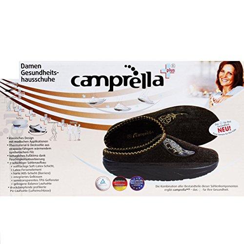 Camp Tabrella Zapatillas abroll Mujer de la Salud Efecto Marrón marrón