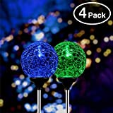 Christmas Solar Globe Lights, 4-Pack of OxyLED Solar Globe Light Stakes, Color-Changing LED Garden Light Landscape Decorative Lighting, Auto On/Off Dusk to Dawn, Solar Powered Festive Decor Light Review