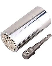 TrifyCore Llave de herramienta universal socket set multi-socket universal adaptador de cocodrilo compacto y duradero trinquete autoajustable adecuado para taladro eléctrico adaptador universal herramienta de mantenimiento 1 set