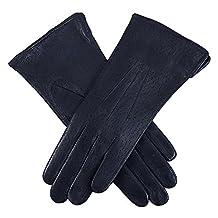 Dents Jessica Classic Imipec Leather Ladies Glove 7.5 Navy