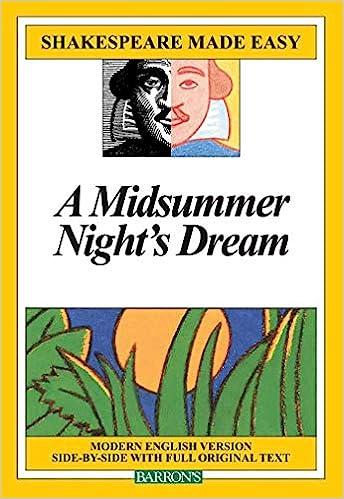 A Midsummer Night S Dream Shakespeare Made Easy Amazon De