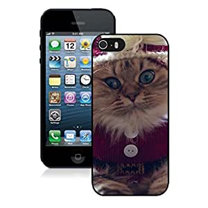 Individualization Christmas Naughty Cat Black Phone Case For Iphone 5s,Iphone 5 TPU Case,Apple Iphone 5s