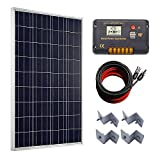 ECO-WORTHY 100 Watts Solar Panel + 20A LCD Display PWM Charge Controller +