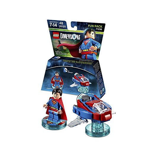 LEGO Dimensions DC Comics Heroes and Villains MEGA Bundle: Superman, Wonder Woman, Aquaman, Cyborg, Joker/Harley Team, and Bane by One Liberty Corner