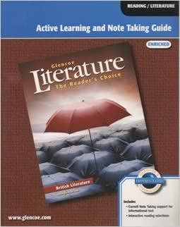Glencoe Literature Active Learning and Note Taking Guide Enriched (The Reader's Choice)