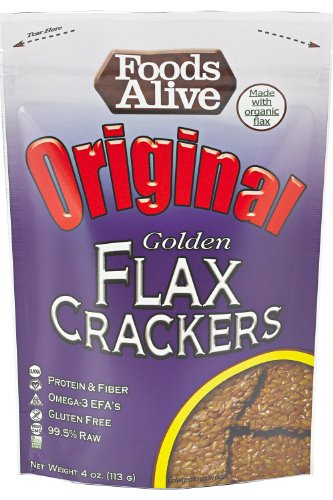 Aliments vivants or lin Crackers, régulières, sachets de 4 onces (pack de 6)