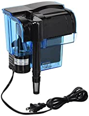 The Penn Plax Cascade Hang On Aquarium Filter features a revolutionary Bio-Falls Quad Filtration System to keep your tank clean and healthy. The polyfiber floss cartridge traps floating particulate matter while the activated carbon cartridge ...