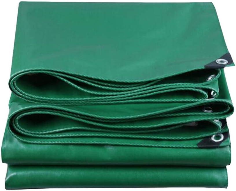 DALL ターポリン 防水 ヘビーデューティ PVCタープ 530G /㎡ アウトドア レインプルーフ 日焼け止め オイルクロス 厚さ0.4mm (Color : 緑, Size : 4×4m) 緑 4×4m