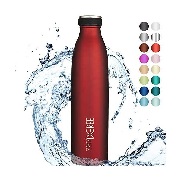 "720°DGREE Borraccia Termica Acciaio Inox ""milkyBottle"" - 350ml, 500ml, 750ml, 1l - Senza-BPA, Isolato Sottovuoto, Doppia… 1 spesavip"