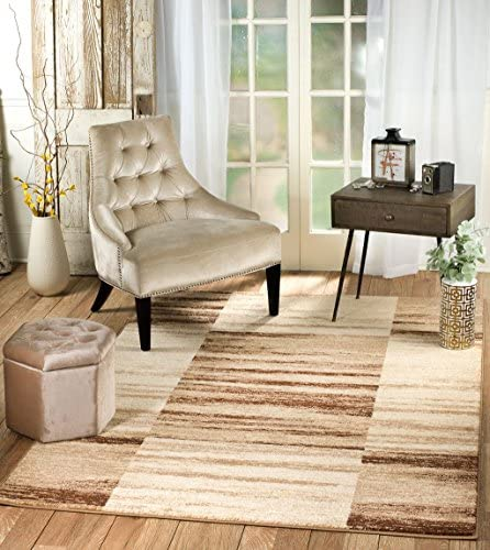 Rio Summit 312 Beige Brown Area Rug Modern Geometric Many Sizes Available 3 .6 x 5 , 3 .6 x 5