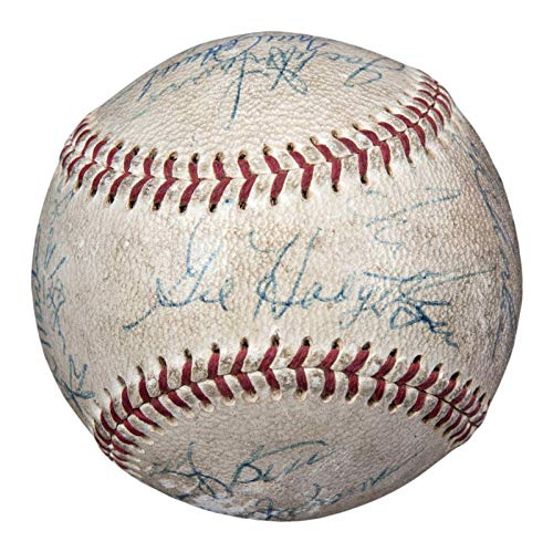 Vintage 1969 New York Mets WS Champs Team Signed Baseball Gil Hodges Beckett COA - Beckett Authentication