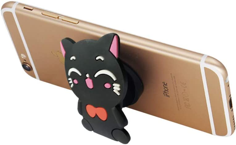 24 Pack Collapsible Phone Grip Stand for Phones and Tablets Black 6 Styles Grip Holder Cat Dog Rabbit Panda Unicorns iWireless USA