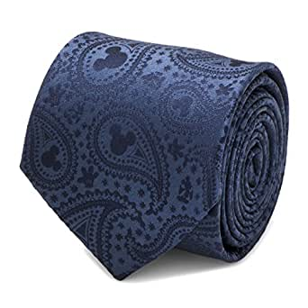 Disney Mickey Mouse Navy Paisley Men's Tie, Officially Licensed