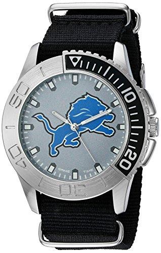 (Game Time Men's 'Starter'  Metal and Nylon Quartz Analog  Watch, Color:Black (Model: NFL-STA-DET))