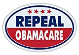 Oval Shaped Car/Refrigerator Magnet - Repeal Obamacare - Affordable Care Act, Unconstitutional, Healthcare
