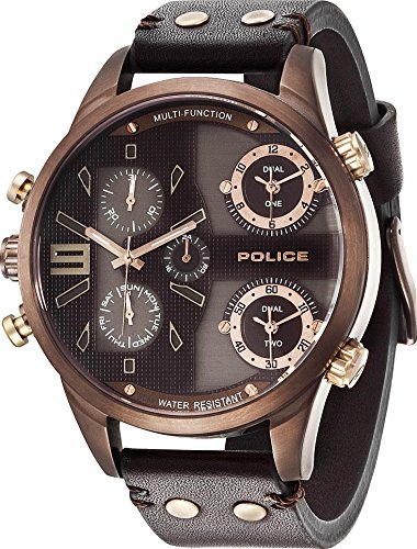 POLICE Men's Brown Leather Watch R1451240003