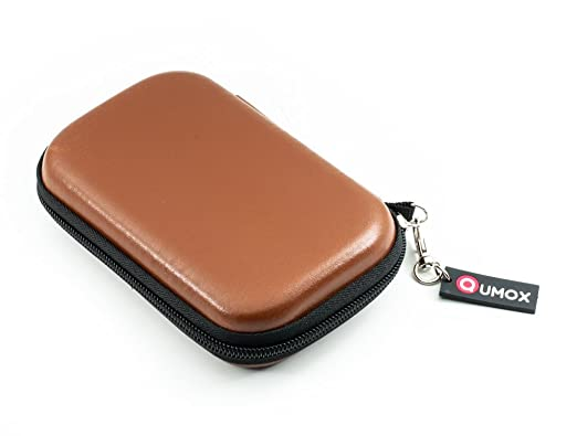 1358 opinioni per QUMOX Brown 2,5 custodia in pelle HDD / borsa per External Hard Drive Case disk