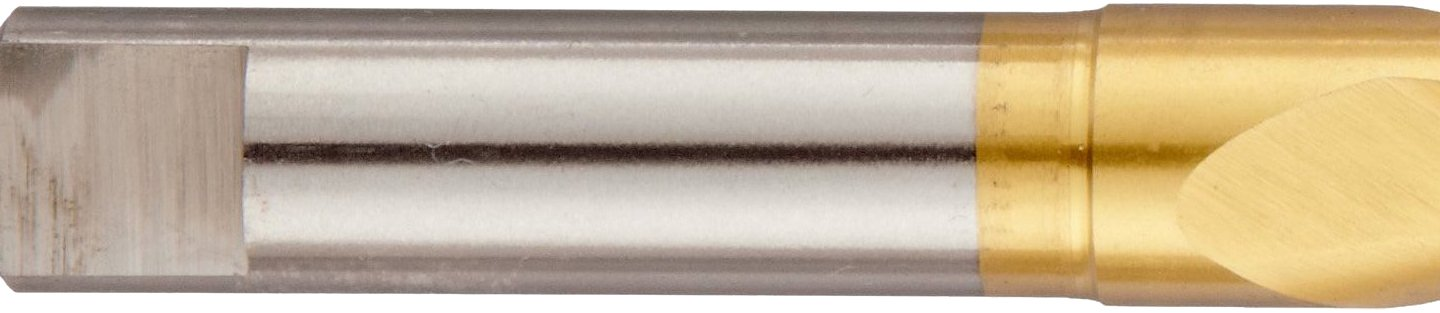 27//64 Size Parabolic Flute Round Shank with Tang TiN Coated 135 Degree Notched Point Chicago Latrobe 120DHT High-Speed Steel Long Length Drill Bit