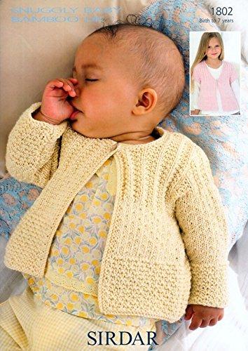 7c128f9ec Sirdar Snuggly Baby Bamboo DK Baby Knitting Pattern 1802  Amazon.co ...