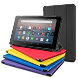 All-New Fire 7 Tablet Case, DTTO Ultra Slim Cover Case for All-New Fire 7 Tablet (7th Generation, 2017 Release), Anti-Scratch Trifold Cover, Full Protection, Black
