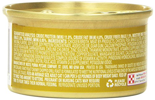 Fancy Feast Wet Cat Food, Chunky, Chopped Grill - (24) 3 oz. Cans