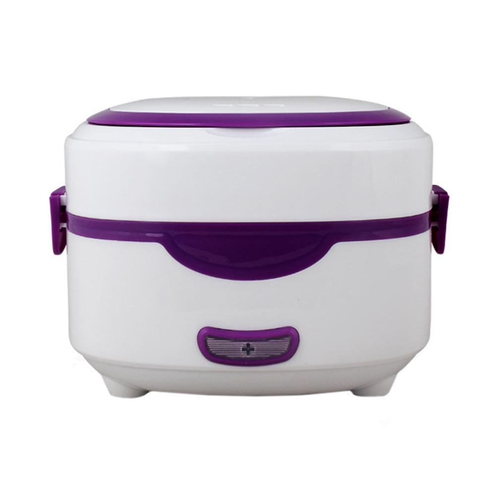 Mini Electric Pot,Single Wall Automatic Heat Preservation Mini Rice Cooker,Stainless Steel Liner Mini Electric Steamer,Electric Heating Lunch Cooking Box Container