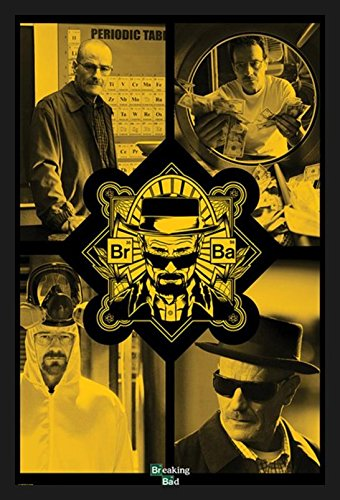 "buyartforless Framed "" Breaking Bad - Quad Yellow Walter Whi"