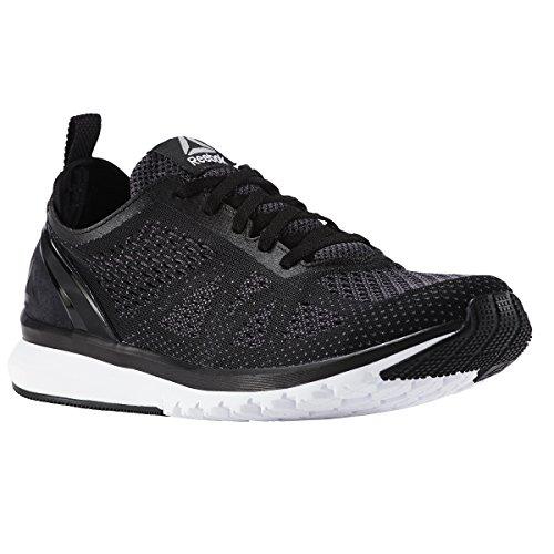 Reebok Men's Print Smooth Clip ULTK Running Shoe, Black/ash Grey/Coal/White/Pewter, 10 M US