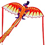 Dragon Kites for Kids and Adults, Single Line Kite Easy to Fly,Funny Outdoor Toys