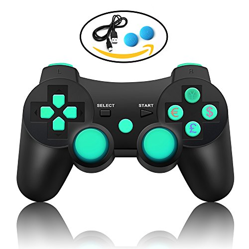 PS3 Controller Bluetooth Sixaxis Gamepad Remote for Sony ...