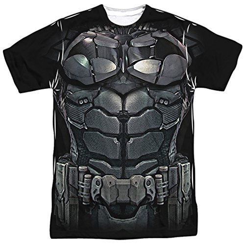 Costume -- Batman Arkham Knight All-Over Front/Back T-Shirt, (Mens Batman Costume T-shirt)