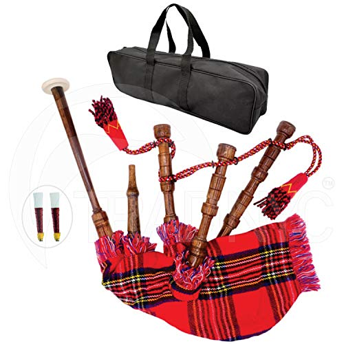 (TRAD NYC Toy Baby Mini Bagpipe Rosewood Royal Stewart Cover & Cord, Bag and Reeds Child)