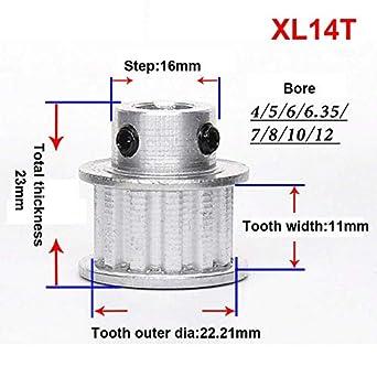 Amazon.com: 1 polea de correa de distribución XL14T con ...