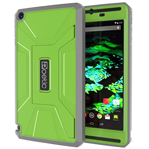 Shield Radical - NVIDIA SHIELD Tablet K1 / NVIDIA SHIELD Tablet Case - Poetic [REVOLUTION Series] NVIDIA SHIELD Tablet 8.0-inch Case - Rugged Hybrid Case with Built-in Screen Protector for NVIDIA SHIELD Tablet K-1 (2015) / NVIDIA SHIELD Tablet (2014) Green/Black (3-Year Manufacturer Warranty from Poetic)