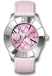 Paris Hilton Women's 138.4690.60 Multi Function Leather Strap Watch