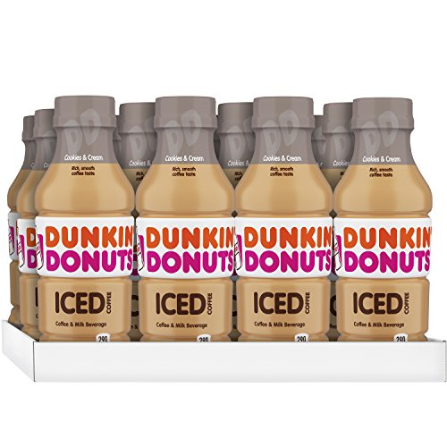 Dunkin Donuts Iced Coffee, Cookies and Cream, 13.7 Fluid Ounce (Pack of 12)